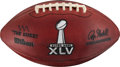 Football Collectibles:Balls, 2011 Super Bowl XLV Game Used Football - Packers vs. Steelers (PSA/DNA Certification). ...