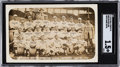 Baseball Cards:Singles (Pre-1930), 1915 Boston Red Sox Real Photo Postcard SGC Fair 1.5 with Rookie Babe Ruth. ...