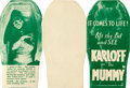 """Movie Posters:Horror, The Mummy (Universal, 1932). Very Fine-. Die-Cut Herald (Closed: 3"""" X 6"""", Open: 9"""" X 6"""").. ..."""