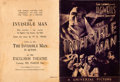 """Movie Posters:Horror, The Invisible Man (Universal, 1933). Folded, Fine/Very Fine. Herald (Closed: 7"""" X 9.5"""", Open: 14"""" X 9.5"""").. ..."""