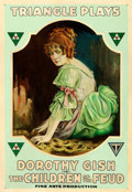 Movie Posters:Drama, The Children of the Feud (Triangle, 1916). Very Good on Li...