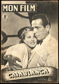 "Casablanca (Warner Brothers, 1947). Fine. First Post-War Release French Program (16 Pages, 8"" X 11.75"")"