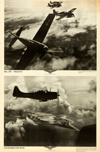 World War II U.S. Naval Aviation (U.S. Navy, c. 1943). Rolled, Fine/Very Fine. Aviation Training Posters (4) (Approx. 39...
