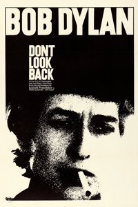 "Don't Look Back (Leacock-Pennebaker, 1967). Very Fine on Linen. One Sheet (27.5"" X 40.75"")"
