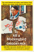 """Movie Posters:Drama, To Kill a Mockingbird (Universal, 1963). Rolled, Very Fine-. Autographed One Sheet (26.75"""" X 41.5"""").. ..."""