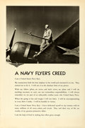 "Movie Posters:War, World War II U.S. Naval Aviation (U.S. Navy, c. 1943). Rolled,Fine/Very Fine. Aviation Training Posters (3) (39"" X 59"") Pho...(Total: 3 Items)"
