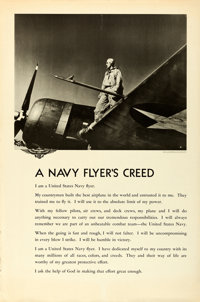 "World War II U.S. Naval Aviation (U.S. Navy, c. 1943). Rolled, Fine/Very Fine. Aviation Training Posters (3) (39"" X..."
