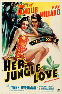 """Her Jungle Love (Paramount, 1938). Folded, Very Fine-. One Sheet (27"""" X 41"""")"""