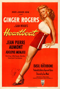 "Movie Posters:Romance, Heartbeat (RKO, 1946). Very Fine- on Linen. Autographed One Sheet (27.5"" X 41.25"").. ..."
