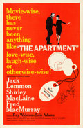 """Movie Posters:Comedy, The Apartment (United Artists, 1960). Fine/Very Fine on Linen. Autographed One Sheet (27"""" X 41"""").. ..."""