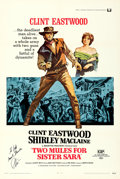 Movie Posters:Western, Two Mules for Sister Sara (Universal, 1970). Very Fine- on...