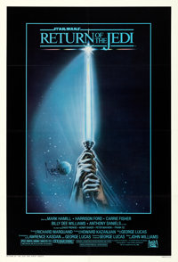 "Return of the Jedi (20th Century Fox, 1983). Very Fine- on Linen. Autographed One Sheet (27"" X 41"") Style A, T..."