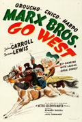 "Movie Posters:Comedy, Go West (MGM, 1940). Very Fine- on Linen. One Sheet (27.5"" X 41""). Style C.. ..."