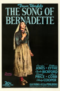 "Movie Posters:Drama, The Song of Bernadette (20th Century Fox, 1943). Very Fine on Linen. One Sheet (27.5"" X 41.25"") Style B, Norman Rockwell Art..."