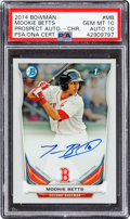 Baseball Cards:Singles (1970-Now), 2014 Bowman Chrome Mookie Betts Prospect Autograph #MB PSA Gem Mint 10 - Auto 10....