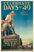 """Movie Posters:Miscellaneous, Celebrate Days of '49 (c. 1922). Fine+ on Linen. Poster (20"""" X 30"""").. ..."""
