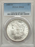 1885-O $1 MS64 PCGS. PCGS Population: (76446/24527). NGC Census: (94331/35008). MS64. Mintage 9,185,000