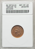 1869 1C -- Whizzed -- ANACS. AU Details, Net XF40. CDN: $350 Whsle. Bid for problem-free NGC/PCGS XF40. Mintage 6,420,00...