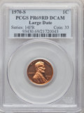 1970-S 1C Large Date PR69 Red Deep Cameo PCGS. PCGS Population: (50/0). NGC Census: (16/0). CDN: $465 Whsle. Bid for pro...