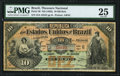 World Currency, Brazil Thesouro Nacional 10 Mil Reis ND (1892) Pick 30 PMG Very Fine 25.. ...