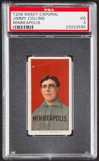 1909-11 T206 Sweet Caporal Jimmy Collins (Minneapolis) PSA VG 3