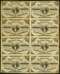 Fractional Currency:Third Issue, Fr. 1226 3¢ Third Issue Block of Eight Very Fine.. ...
