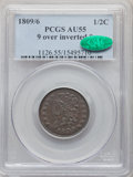 1809/6 1/2 C 9 Over Inverted 9 AU55 PCGS. CAC. PCGS Population: (39/62). NGC Census: (0/0). CDN: $600 Whsle. Bid for pro...