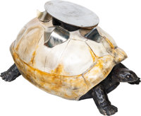An Anthony Redmile Tole Painted Composite and Steel Tortoise Coffee Table, circa 1975 16 x 30 x 20 inches (40.6 x