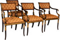 Furniture , Four Empire-Style Partial Gilt Wood Chairs, 20th century. 33 x 22 x 24 inches (83.8 x 55.9 x 61.0 cm). ... (Total: 4 Items)