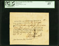 Colonial Notes:Connecticut, Connecticut Pay Table Office £4.12s.4d May 29, 1782 PCGS ExtremelyFine 45.. ...