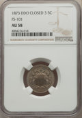 Shield Nickels, 1873 5C Closed 3, Doubled Die Obverse, FS-101, AU58 NGC. NGC Census: (1/6). PCGS Population: (1/7). AU58. ...