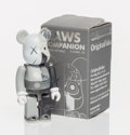Collectible:Contemporary, KAWS X BE@RBRICK. Dissected Companion 100% (Grey), 2008. Painted cast vinyl. 3 x 1-1/4 x 1 inches (7.6 x 3.2 x 2.5 cm). ...