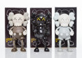 Collectible:Contemporary, KAWS (American, b. 1974). Companion, set of three, 1999. Painted cast vinyl. 7-1/2 x 4 x 2 inches (19.1 x 10.2 x 5.1 cm)... (Total: 3 Items)