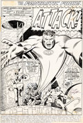 Original Comic Art:Splash Pages, Rich Buckler and Joe Sinnott Fantastic Four #144 Splash Page 1 Original Art (Marvel, 1974)....