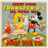 Mickey Mouse Dye Transfer Packet and Related Memorabilia (Walt Disney, c. 1930s).... (Total: 7 Items)