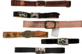 Music Memorabilia:Memorabilia, The Beatles Collection of Belts (6). . ...