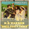 "Movie Posters:Drama, Shell Forty-Three (Triangle, 1916). Folded, Fine/Very Fine. Six Sheet (80"" X 80"").. ..."