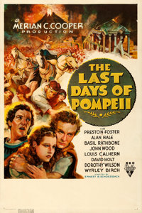 "The Last Days of Pompeii (RKO, 1935). Very Fine- on Linen. One Sheet (27.25"" X 41"")"