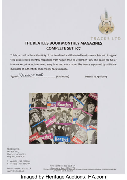 The Beatles Book Monthly Magazines Complete Set 1-77 (circa 1960s