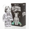 Collectible:Contemporary, BE@RBRICK X BBC. Astronaut 400%, 2017. Painted cast resin. 10-3/4 x 5 x 3-1/2 inches (27.3 x 12.7 x 8.9 cm). Stamped to ...