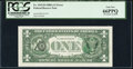 Error Notes:Third Printing on Reverse, Overprint on Back Error Fr. 1915-D $1 1988A Federal Reserve Note. PCGS Gem New 66PPQ.. ...