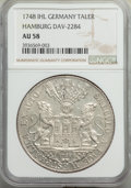 German States:Hamburg, German States: Hamburg. Free City Taler 1748-IHL AU58 NGC,...