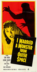 """Movie Posters:Science Fiction, I Married a Monster from Outer Space (Paramount, 1958). Folded, Very Fine. Three Sheet (41"""" X 79"""").. ..."""
