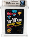Video Games:Nintendo, Balloon Fight (NES, Nintendo, 1986) Wata 9.4 A (Seal Rating) Variant: Sealed Hangtab, 4th Revision, 2 codes....