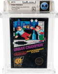 Video Games:Nintendo, Urban Champion (NES, Nintendo, 1986) Wata 8.5 B+ (Seal Rating)Variant: Sealed Hangtab, 4th Revision....