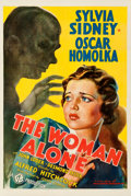 "Movie Posters:Hitchcock, The Woman Alone (Gaumont-20th Century Fox, 1937). Fine on Linen.One Sheet (27"" X 41"") AKA: Sabotage.. ...."