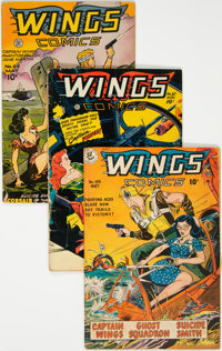 Wings Comics Group of 5 (Fiction House, 1946-52) Condition: Average VG+.... (Total: 5 Comic Books)