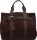 """Luxury Accessories:Bags, Hermès Ebene Toile & Fjord Leather Ceinture Bag. Condition: 2. 15"""" Width x 11"""" Height x 7"""" Depth. ..."""
