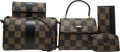 Luxury Accessories:Bags, Fendi Set of Five: Brown Checkered Bags & Accessories. Condition: 4. See Extended Condition Report for Sizes.... ... (Total: 5 )