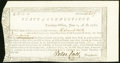 Colonial Notes:Connecticut, Connecticut Treasury Certificate £2.0s.0 June 1, 1780 AndersonCT-18 Choice About New.. ...